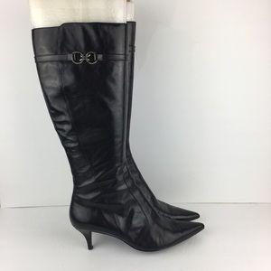 Bandolino Tall Black Pointed Toe Boots Size 9